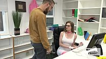 Gorgeous Office Whore Gets Destroyed By Random ...