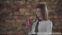 Aggressive College girl with Strapon is All the...