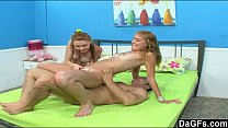 Hot threesome with teens next door Thumbnail
