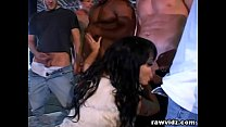 clublez ◦ five cocks for one slut rough gangbang dp fucking thumbnail