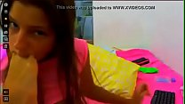 Cute Teen Deep Sucking Her Own Feet on Webcam - tinyamateurcams.ml pornhub video