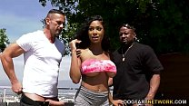 Busty Ebony Sarai Minx Seduces Her Husband And His Buddy porn thumbnail