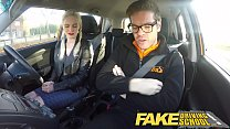 Fake Driving School big tits hairy pussy student has creampie and squirts - 9Club.Top