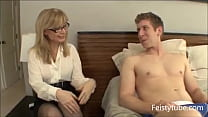 Aunt catches nephew jerking off-Feistytube.com Preview