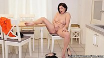 Euro milf Nicol lets us enjoy her curvy body thumbnail