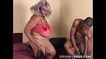 BBW Ebony Granny Fucks Big Black Cock video
