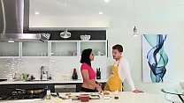 Cum Kitchen: Young Teen Violet Starr Fucks In The Kitchen While Cooking
