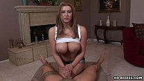 Chick with big tits enjoys playing with a hard ...