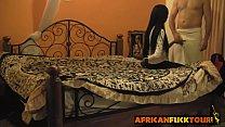 Black amateur African babe riding white cock porn thumbnail