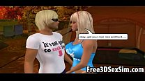 Two sexy 3D cartoon hotties getting fucked in the woods - Download mp4 XXX porn videos