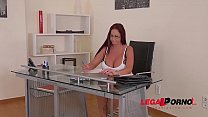 Massage Therapist bangs busty client Emma Butt and cums on her big titties GP306