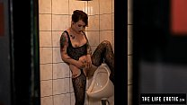 Girl pees and masturbates in a public mens room...'s Thumb