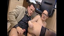 Porn Star is fucked hard in office - image