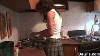 Hot lesbian teen surprises her lover