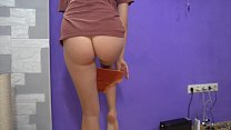 Slim Babe Tries On Cute Panties   Solo