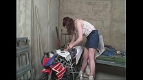 Young hot girl fucks the old horny neighbors in the workshop.'s Thumb