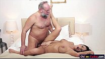 Busty Samantha Rebeka banged by old dude