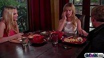 Kenna activates her stepmoms vibrating panties during dinner - 9Club.Top