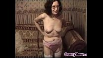 Grandmother Stripping And Masturbating