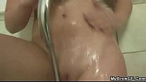 Her BF comes in when she swallowing his bro's jizz