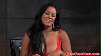 Breastbonded exotic sub caned on bigtits video
