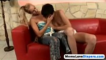 Blonde mommy fucking her step son diapers strap onhi-1 preview image