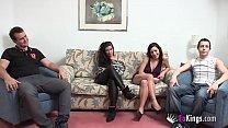 Their first girlfriend swap. Ruby, 19 and hes boyfriend, Vs Sandra, 24, and her boyfriend thumbnail