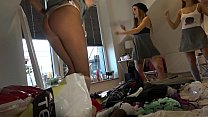 Try On Tiniest Thongs, Lingerie, Spandex See Through Leggings