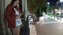 Camilla Moon - outdoor public pissing from a ba...
