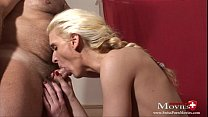 Blond whore Paris fucked at Porno-Casting