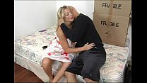 Amazing Blonde Mature seducing her son's friend