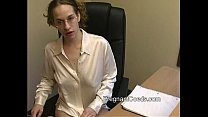 Busty Lactating Redhead at Work preview image