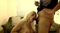 Sexy Blonde Barbie Blaze, Does More Deep throat with Swallow thumbnail