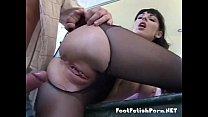 Image: Rear fucked nylon wearing babe