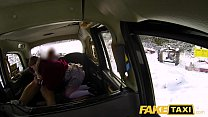 Fake Taxi Sexy redhead hot taxi suck and fuck on a snowy day thumbnail