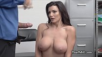 Stealing Big Tit MILF Faces Justice At The Back