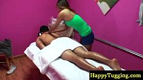 Asian masseur gets her client horny Image