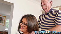 Alluring young babe with nice curves banged by grandpa porn thumbnail
