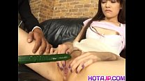Megumi has wet twat fucked with sex toys