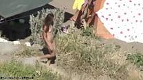 Hot Brunette Spycamed Naked
