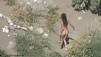 Hot brunette spycamed naked thumbnail