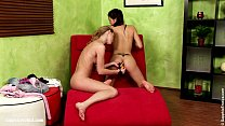 Sensual  lesbian sex by Mae and Ally from Sapphic Erotica - Livingroom Lust