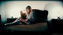 Petite teen Candice masturbates with a flower - download porn videos