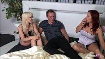▶▶ Redhead German Teen Suprise Best Girlfriend with FFM Threesome at 18yr Birthday ◀◀