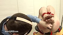 Extreme BDSM asshole action with rope and fucker
