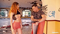 CHICAS LOCA - Hungarian babe Shona River drilled hard in crazy outside fuck