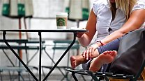 Cams4free.net - Blonde Candid Soles at Starbucks preview image