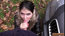 Teen Lady D hitchhikes and gets rammed by stran...