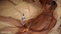 Ebony Twink Sage Beats Off