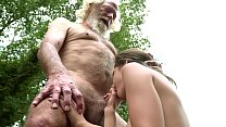 70 year old grandpa fucks 18 year old girl moan...